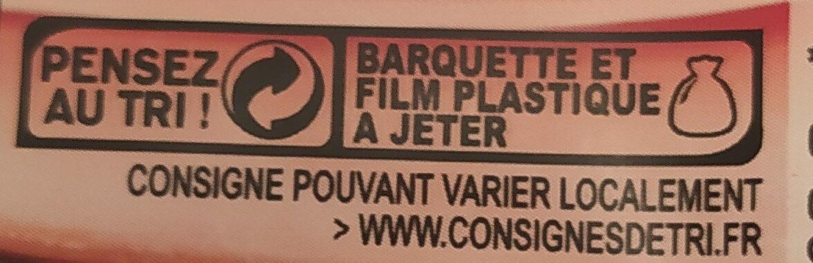 Le Bon PARIS à l'étouffée SANS NITRITE 4 tranches - Recyclinginstructies en / of verpakkingsinformatie - fr