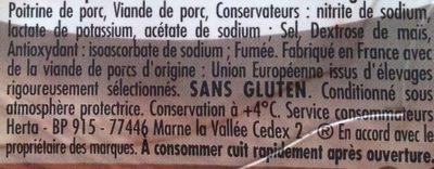 Allumettes - Ingrédients - fr