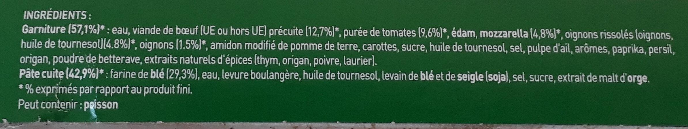 Four à Pierre, bœuf bolognaise - Ingrédients - fr