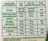 Four à pierre REGINA - Nutrition facts