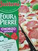 Pizza au chorizo, fromages, oignons, sauce douce aux épices - Product