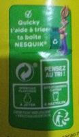 NESQUIK Poudre Cacaotée boîte - Instruction de recyclage et/ou informations d'emballage - fr