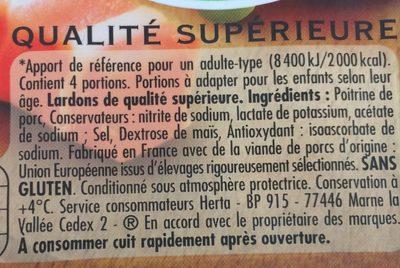 Lardons nature 2x100g Lardons nature - Ingredienti - fr