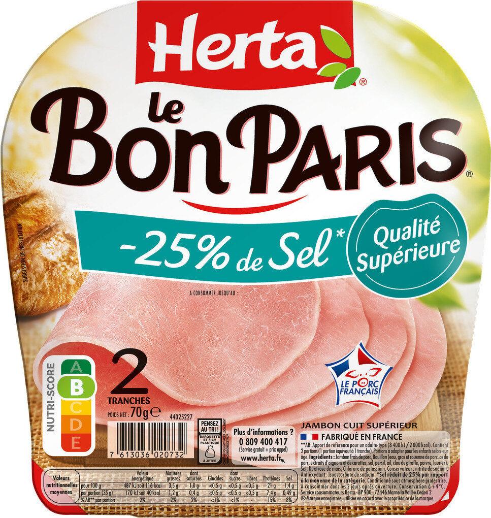 LE BON PARIS jambon -25% de sel - Produit - fr