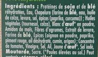 Escalope soja et blé - Ingrediënten