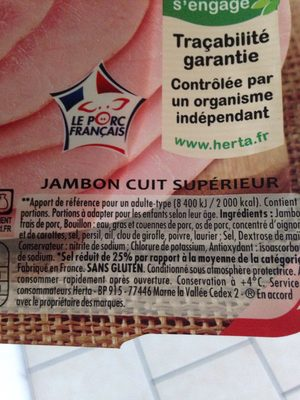 Jambon - Ingredients