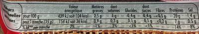 Le Bon Paris -25% de Sel - Informations nutritionnelles