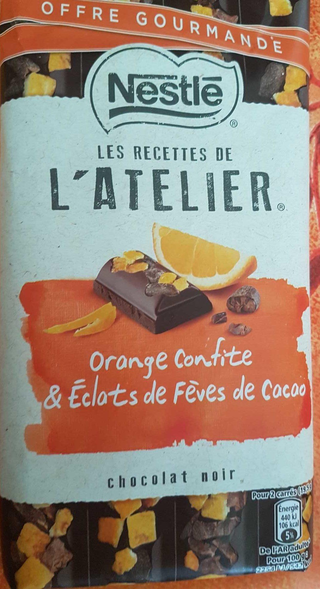 Les recettes de l 39 atelier chocolat noir orange confite for Cuisine orange et noir