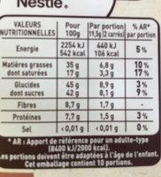 Orange confite éclats de fèves de cacao - Voedingswaarden - fr