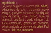 KUB OR bouillon - Ingredienti - fr