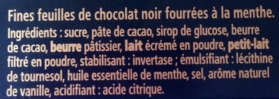 After Eight - Ingredients - fr
