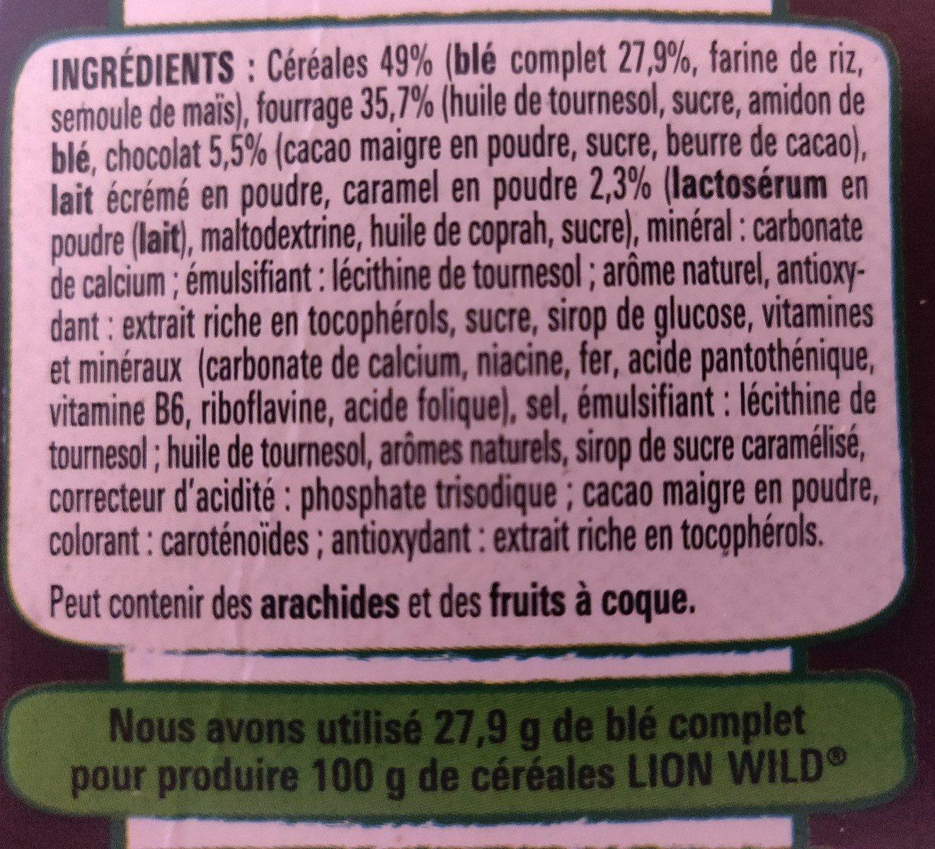 Lion Wild - Ingrédients - fr