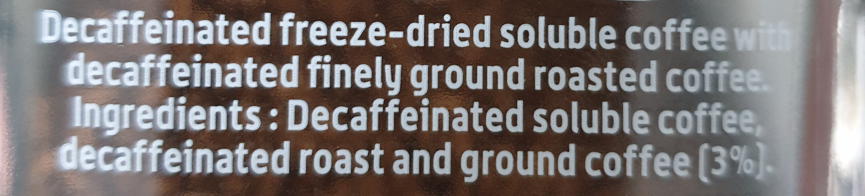 Nescafé Gold Blend Decaff - Ingredienti - en