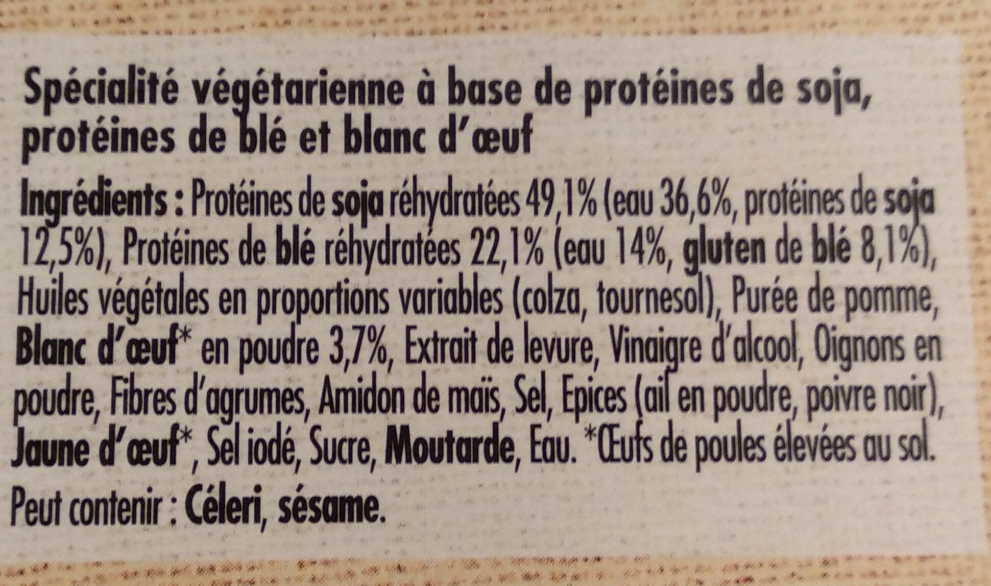 Bouchées grillées soja & blé - Ingredients - fr