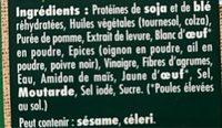 Bouchées grillées soja & blé - Nutrition facts - fr