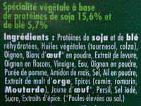 Steak soja & blé - Ingrediënten - fr