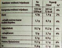C krem supa brokoli - Nutrition facts - sr