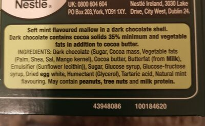 Nestlé whip - Ingredients - en