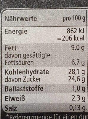 Eiscreme Fürst Pückler Art - Valori nutrizionali - en
