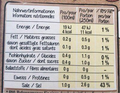 Bouillon boeuf - Informazioni nutrizionali - fr