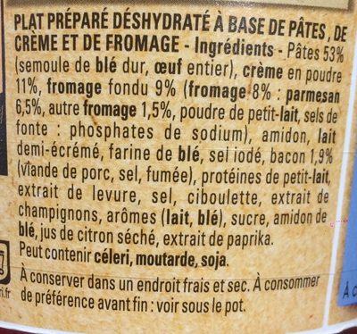 Bolino Etats-Unis Pasta&Cheese - Ingredients