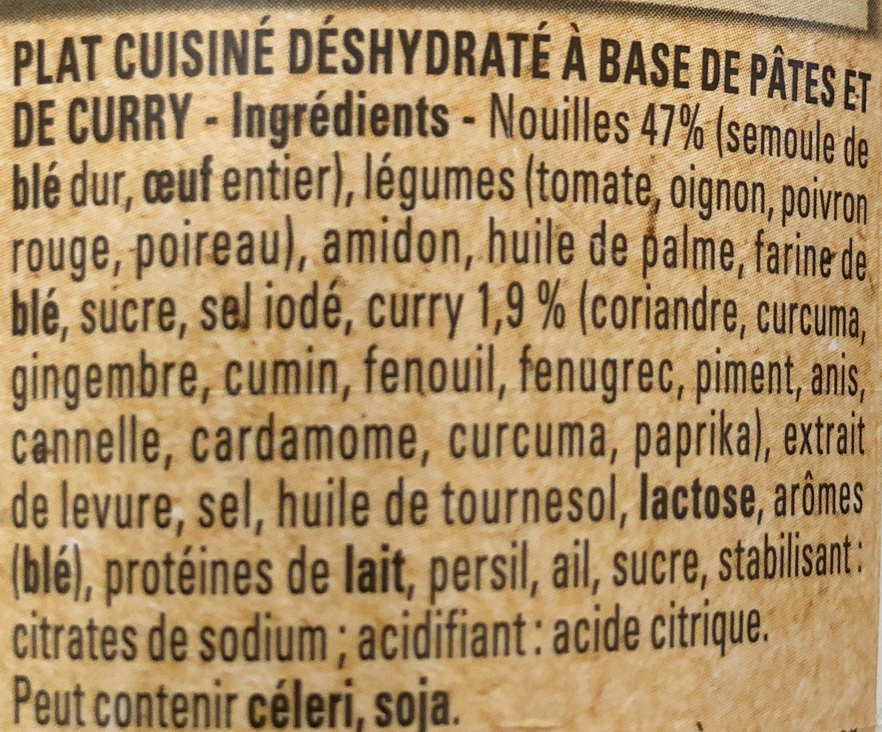 Bolino Inde Nouilles au Curry Doux - Ingrédients - fr