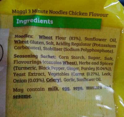 Ramen - Informazioni nutrizionali - en