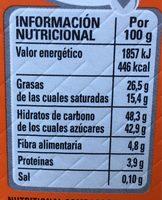 Caja roja coulant - Información nutricional