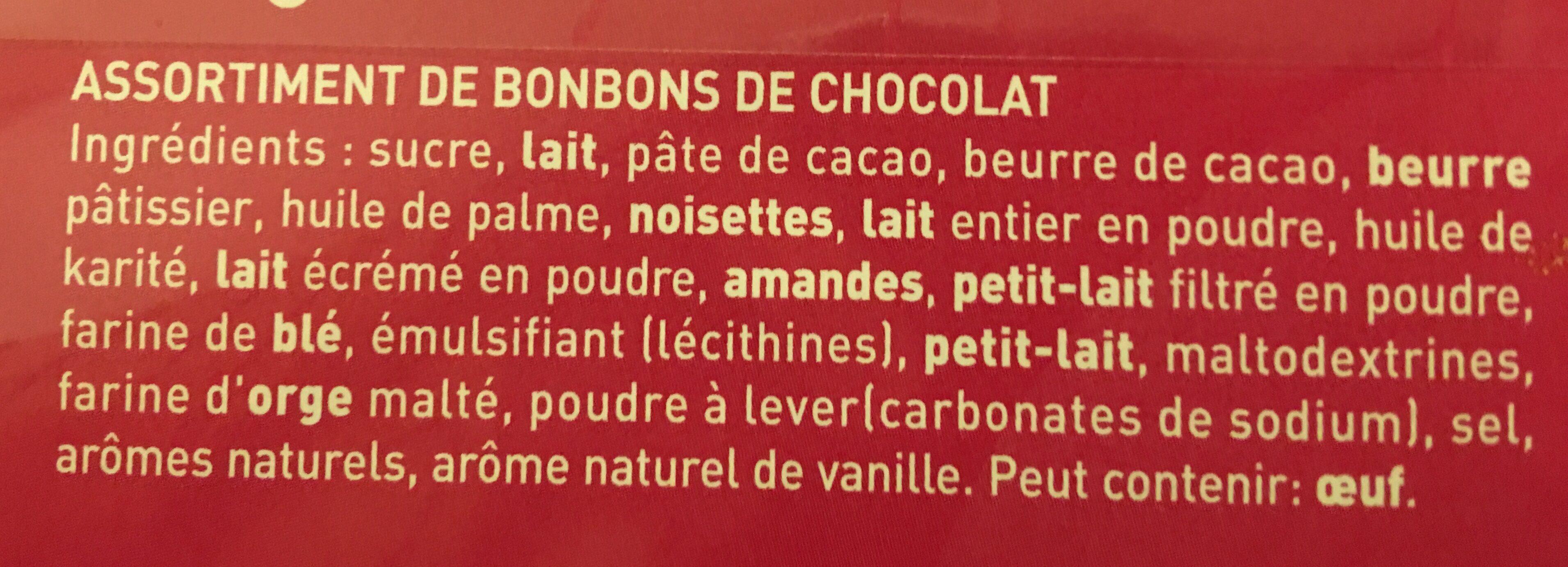 Assortiment de chocolats - Ingrediënten - fr