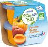 Compotes bébé bio pomme pêche abricot - Prodotto