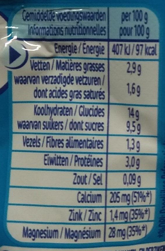 Yogolino peche banane - Voedingswaarden - fr