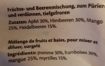 Happy Berry Smoothie - Ingredienti - fr
