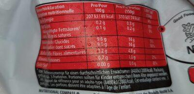 Happy Berry Smoothie - Valori nutrizionali - fr