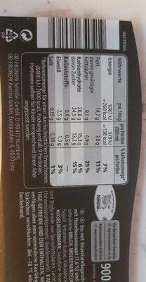 Mövenpick Stracciatella - Valori nutrizionali - de