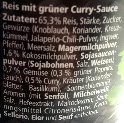 Magic Asia Thai Green Rice Curry mit Jasminreis - Ingredients