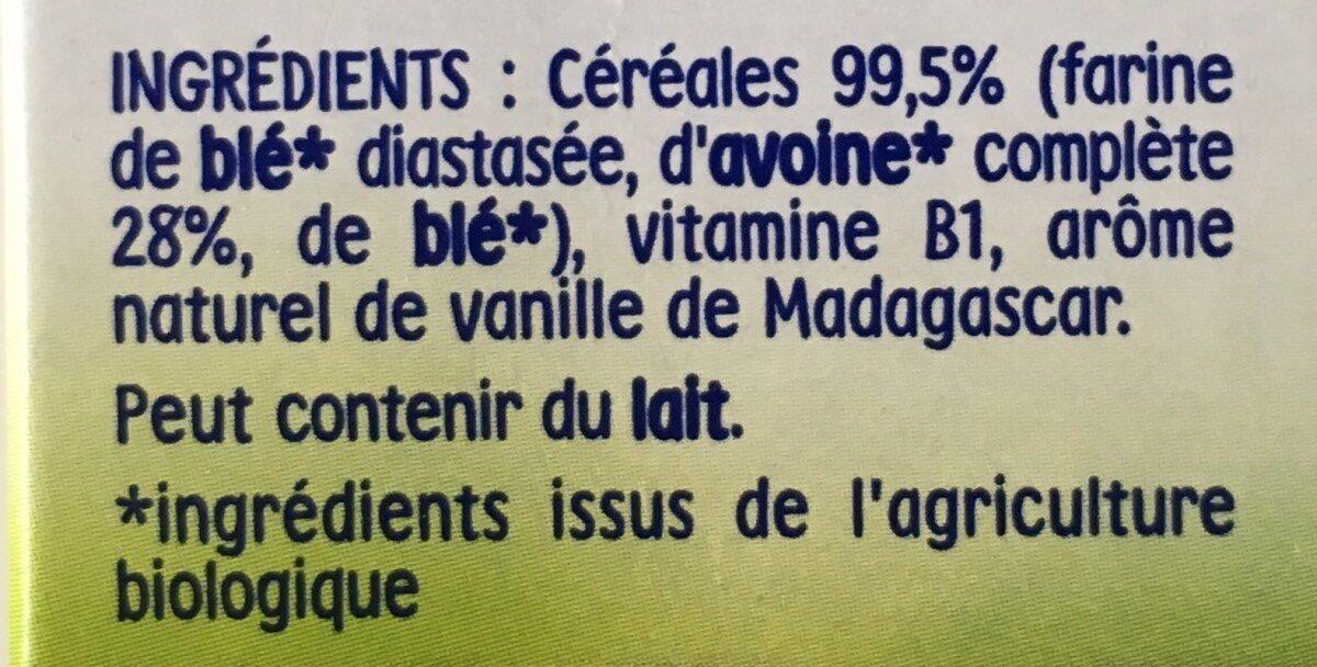 P'tite Céréale Bio Vanille - Ingredients