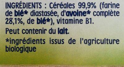 Nestlé P'tite Céréales Blé et Avoine - Ingredienti - fr