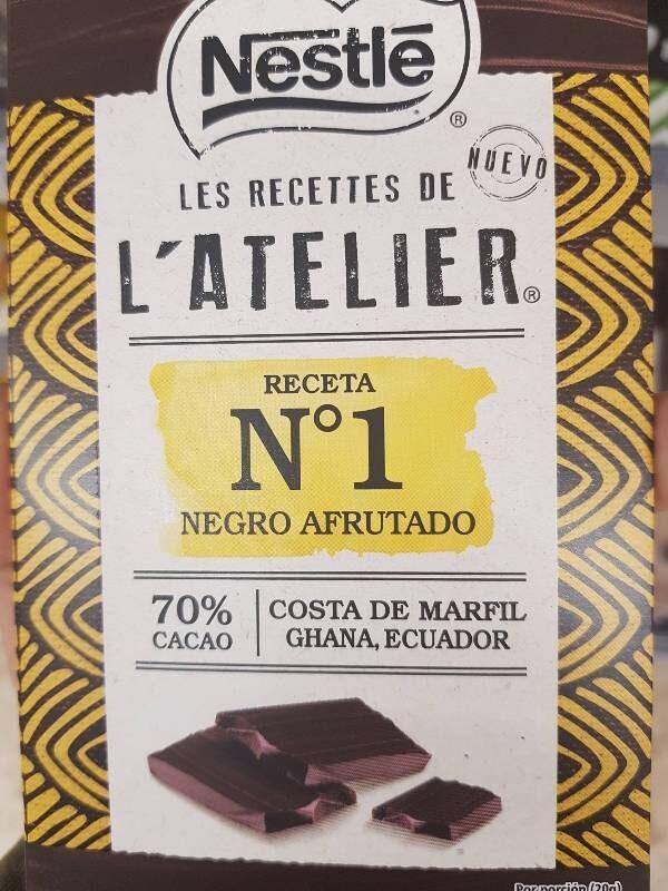 Nestlé Chocolate Negro 70% Afrutado L'atelier - Producto