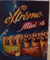 Extreme mini conos de helado de avellana y chocolate - Produit - es
