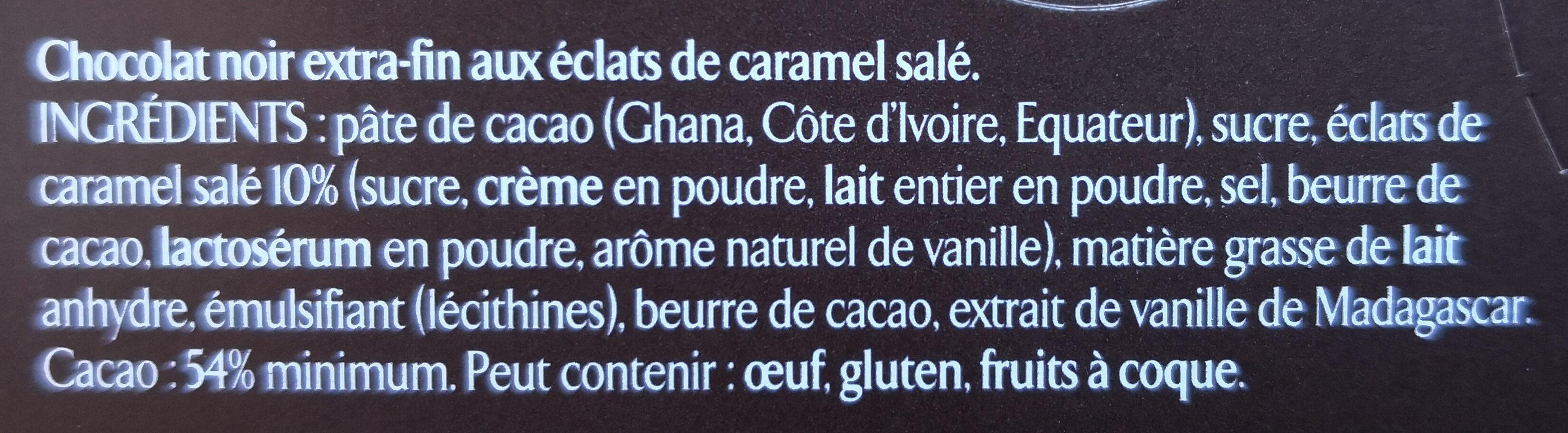 Les recettes de l'atelier Caramel - Ingredients - fr