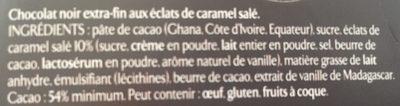 Les recettes de l'atelier Caramel - Ingrediënten