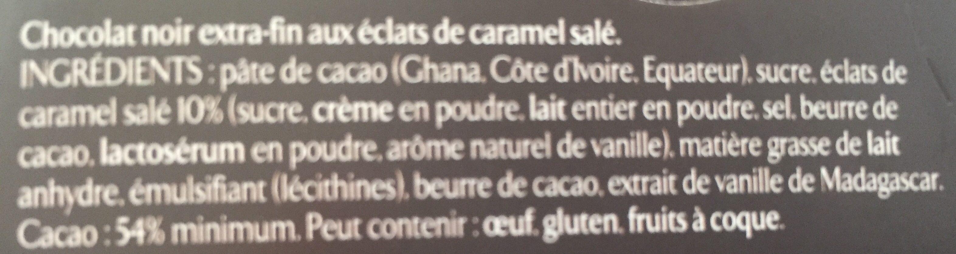 Les recettes de l'atelier Caramel - Ingredients