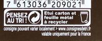 RECETTES DE L'ATELIER Chocolat noir amande - Instruction de recyclage et/ou informations d'emballage - fr