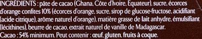 Noir orange confite - Ingredients
