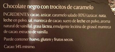 L'atelier caramel al punto de sal - Ingrédients - es