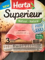 Jambon supérieur nature sans nitrite - Product