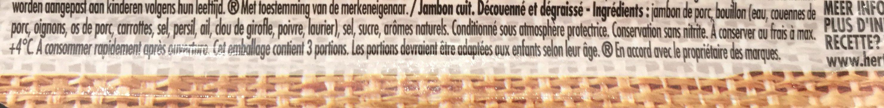Jambon supérieur nature sans nitrite - Ingredients