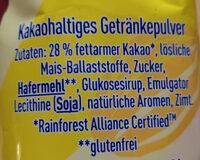 Nesquik 30% weniger Zucker - Ingredients - de