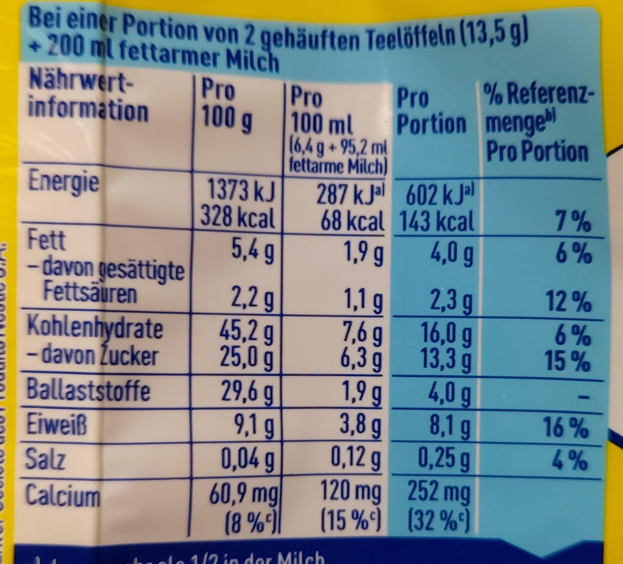 Nesquik 30% weniger Zucker - Nutrition facts - de