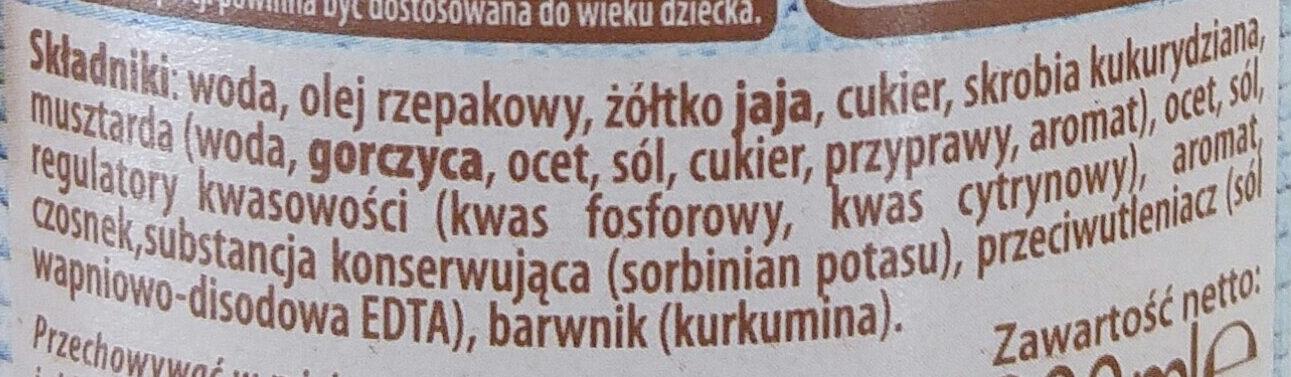 Majonez lekki - Składniki - pl